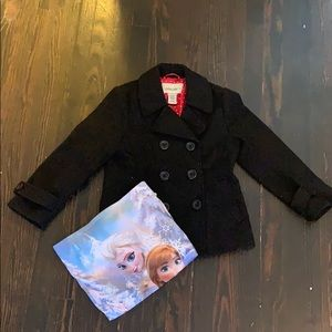 Other - Cherokee • Girls Pea Coat and Scarf